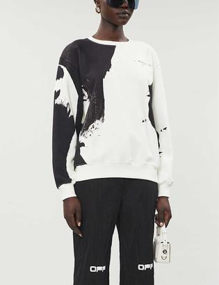 Off-White Graphic-print stretch-cotton jersey sweatshirt