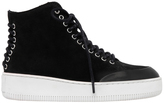 McQ Netil Lace Up Eyelet Black Sneaker
