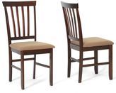 Baxton Studio Tiffany Chairs in Cappuccino (Set of 2)