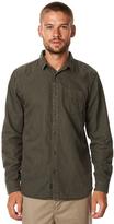 Globe Goodstock Vintage Ls Mens Shirt Green