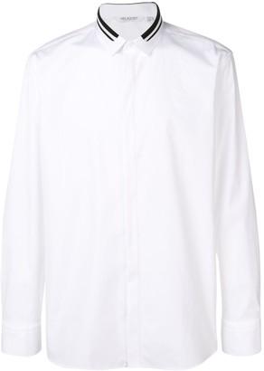Neil Barrett Contrast Stripe Collar Shirt