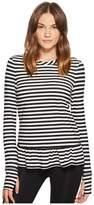 Kate Spade New York Athleisure Stripe Ruffle Pullover Women's Clothing