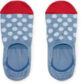 Paul Smith Polka-Dot Stretch Cotton-Blend No-Show Socks
