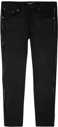Bossi Sportswear Black faux suede trousers