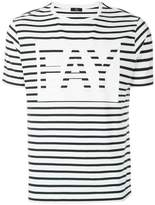Fay striped logo print T-shirt