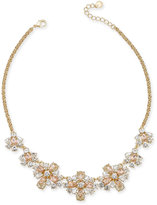 Charter Club Gold-Tone Multi-Crystal Collar Necklace, Created for Macy's