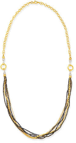 Gurhan Sultan Collection Multi-Strand Gold & Black Diamond Necklace