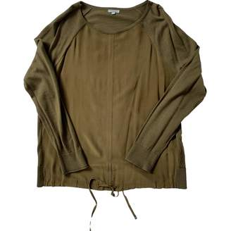 Jigsaw Khaki Silk Top for Women