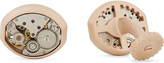 Tateossian Vintage skeleton gear matte cufflinks