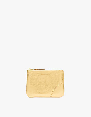 Comme des Garcons Men's Zip Wallet in Gold | Leather