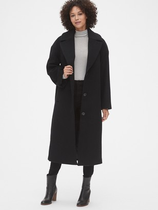 Gap Oversized Longline Wool-Blend Coat