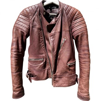 BLK DNM Brown Leather Leather Jacket for Women