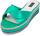 ELOQUII Sateen Cross Flatform Sandal