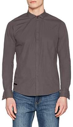 Hope'n Life Men's NOUJLA Dress Shirt, Grey Anthra, M