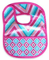 Caden Lane Chevron/Diamond Reversible Coated Bib in Pink
