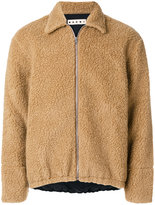 Marni shearling bomber jacket - men - Cotton/Polyester/Wool - 48