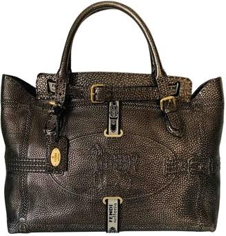 Fendi Anna Selleria Metallic Leather Handbags