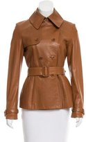 Ralph Lauren Black Label Belted Leather Jacket