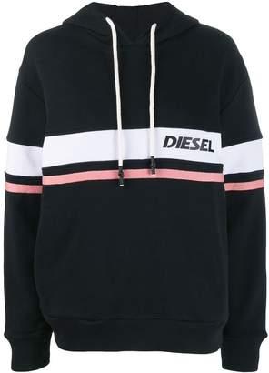 Diesel logo stripe hoodie