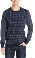 Ben Sherman Men's Colorblock Pattern Crew Sweater