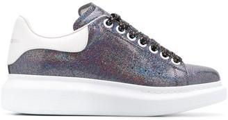 Alexander McQueen Oversized glitter embellishments sneakers