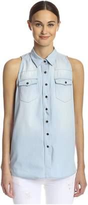 Etienne Marcel Women's Sleeveless Button Down Top
