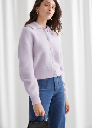 And other stories Statement Collar Knit Cardigan