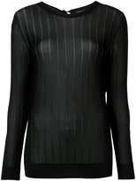 Nina Ricci lightweight ribbed top - women - Viscose - M