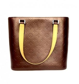 Louis Vuitton Houston Burgundy Patent leather Handbags