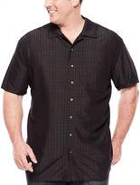 THE FOUNDRY SUPPLY CO. The Foundry Supply Co. Short-Sleeve Textured Plaid Shirt - Big & Tall