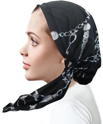 Emem Apparel Women's Pre-Tied Printed Bandana Headwear Chemo Head Scarf Cancer Hat Cover - - Regular