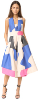 Milly Swirl Jacquard Crossback Tea Dress