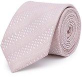 Reiss Reiss Shaw - Tonal Stripe Silk Tie In Pink, Mens