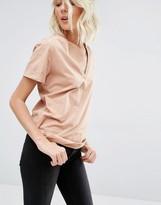 Gat Rimon Tito Short Sleeve V neck Dusky Pink T-Shirt