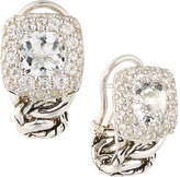 John Hardy Classic Chain White Topaz Shrimp Earrings