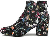 I Love Billy Viney Black print Boots Womens Shoes Dress Ankle Boots