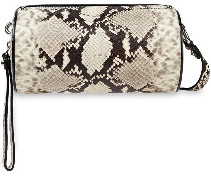 Rebecca Minkoff Barrel Snake-effect Leather Shoulder Bag
