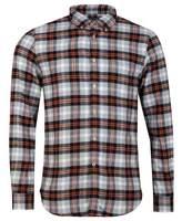 Portuguese Flannel Flashlight Shirt Colour: Orange Grey, Size: SMALL