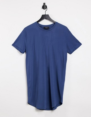 Selected Colin long line o-neck t-shirt