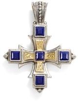 Konstantino Women's 'Orpheus' Square Semiprecious Stone Cross Pendant
