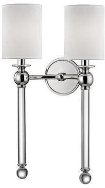 Rosdorf Park Boutwell 2 Light Wallchiere Finish Polished Nickel Shopstyle Lighting