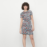 Maje Printed dress with smocking