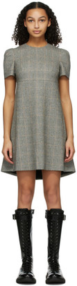 Alexander McQueen Grey Prince Of Wales Cape Back Dress