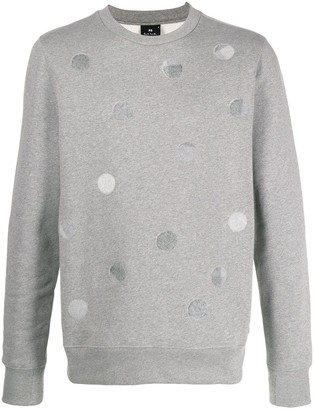 Paul Smith tonal polka dot sweatshirt
