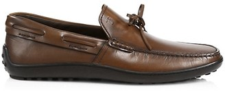 Tod's Laccetto Leather Boat Shoes