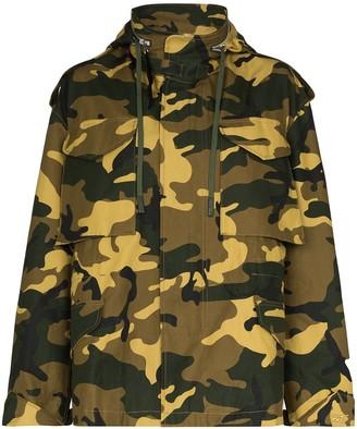 Reebok x Victoria Beckham Camouflage-Print Military Jacket