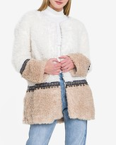 Express Endless Rose Here And There Sherpa Jacket