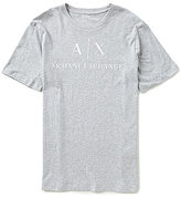 Armani Exchange Signature Logo Crew Neck Short-Sleeve Tee