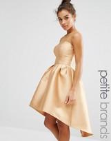Chi Chi Petite Chi Chi London Petite High Low Hem Prom Dress With Mesh Detail