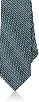 Ermenegildo Zegna Men's Silk Jacquard Necktie-GREEN, NAVY, BEIGE